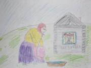 а это просто поржать, рисовала на уроке изо, тема: русская народная сказка  - IMG_1213.jpg