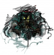 TMNT рисунки от bobr a - черепаха в дыму.jpg