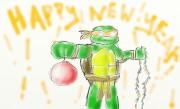 TMNT рисунки от miky - heppy new year 2011.jpg