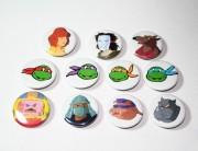 Изображения TMNT, их символика и т.п. на различных предметах - Значки Черепашки Ниндзя.jpg