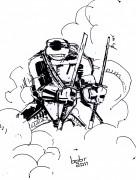 TMNT рисунки от bobr a - Leonardo_ink_by_bobr_2011.jpg