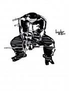 TMNT рисунки от bobr a - Raphael_ink_by_bobr_2011.jpg