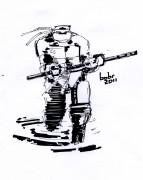 TMNT рисунки от bobr a - Donatello_ink_by_bobr_2011.jpg
