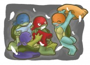 Зарубежный Фан-Арт - TMNT__Pillow_fight_by_NamiAngel.jpg