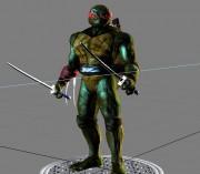 Каким должен быть облик Черепах в новом фильме 2014 ? Ваш выбор. - 3D модель Леонардо 1.jpg