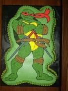 Изображения TMNT, их символика и т.п. на различных предметах - Черепашка Рафаэль - торт (1).jpg