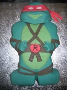 Изображения TMNT, их символика и т.п. на различных предметах - Черепашка Рафаэль - торт (2).JPG