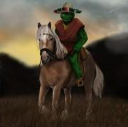 А это просто меня немного удивило о_о - cowboy_turtle_at_sunset_by_thesadpencil-d34hut6.jpg