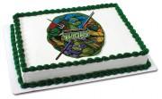 Изображения TMNT, их символика и т.п. на различных предметах - Черепашки Ниндзя - торт (4).jpg