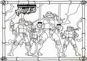Изображения TMNT, их символика и т.п. на различных предметах - черепашки раскраска 5.jpg