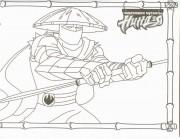 Изображения TMNT, их символика и т.п. на различных предметах - черепашки раскраска 4.jpg