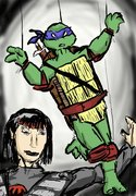 TMNT рисунки от miky - leo and karai.jpg