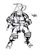 TMNT рисунки от bobr a - черепаха Леонардо_by_bobr_2011_BaW.jpg