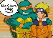 Зарубежный Фан-Арт - tmnt_mikey_vs_Naruto_by_attitudechick.jpg