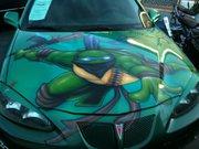 Изображения TMNT, их символика и т.п. на различных предметах - Черепашки Ниндзя - автомобиль (1).jpg