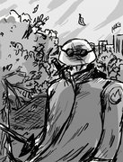 TMNT рисунки от miky - Leonardo_SAINW_by_miky.jpg