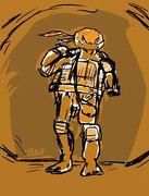 TMNT рисунки от miky - Mickelangelo_SAINW_by_miky.jpg
