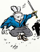 TMNT рисунки от miky - Usagi.jpg