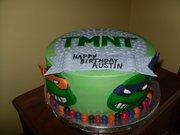 Изображения TMNT, их символика и т.п. на различных предметах - Черепашки Ниндзя - торт (1).jpg