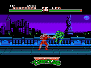 Teenage Mutant Ninja Turtles: Tournament Fighters NES  - Shredder-vs-Leo-fight.png