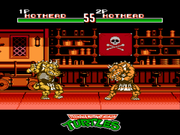 Teenage Mutant Ninja Turtles: Tournament Fighters NES  - Hothead-vs-Hothead.png