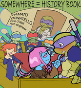 Зарубежный Фан-Арт - TMNT__Somewhere___History_book_by_NamiAngel.jpg