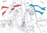 TMNT рисунки от Li-tяn - лео и раф.jpg