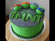 Изображения TMNT, их символика и т.п. на различных предметах - черепашки ниндзя торт (2).jpg