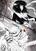 Зарубежный Фан-Арт - Leo vs Karai by kaoru-chan.jpg