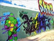 Изображения TMNT, их символика и т.п. на различных предметах - Donatello graffiti by Kanz.jpg
