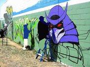 Изображения TMNT, их символика и т.п. на различных предметах - Shredder graffiti by Zepol (1).jpg