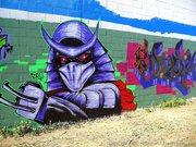 Изображения TMNT, их символика и т.п. на различных предметах - Shredder graffiti by Zepol (2).jpg
