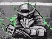 Изображения TMNT, их символика и т.п. на различных предметах - Shredder graffiti by Zepol (3).jpg