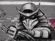 Изображения TMNT, их символика и т.п. на различных предметах - Shredder graffiti by Zepol (4).jpg