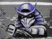 Изображения TMNT, их символика и т.п. на различных предметах - Shredder graffiti by Zepol (5).jpg