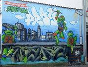 Изображения TMNT, их символика и т.п. на различных предметах - Черепашки Ниндзя графити.jpg