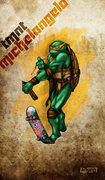 Зарубежный Фан-Арт - Michelangelo TMNT by 12King.jpg