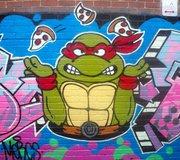 Изображения TMNT, их символика и т.п. на различных предметах - TMNT граффити.jpg