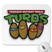 Изображения TMNT, их символика и т.п. на различных предметах - Черепашки Ниндзя - коврик для мышки.jpg