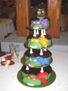 Изображения TMNT, их символика и т.п. на различных предметах - Черепашки Ниндзя - свадебный торт.jpg