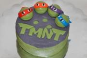 Изображения TMNT, их символика и т.п. на различных предметах - Черепашки Ниндзя - торт (3).JPG