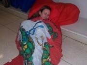 Изображения TMNT, их символика и т.п. на различных предметах - Черепашки Ниндзя - спальный мешок.jpg