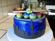 Изображения TMNT, их символика и т.п. на различных предметах - TMNT торт.jpg