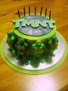Изображения TMNT, их символика и т.п. на различных предметах - Черепашки Ниндзя - торт.jpg