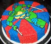 Изображения TMNT, их символика и т.п. на различных предметах - Леонардо - торт.jpg
