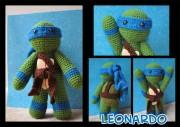Игрушки и фигурки TMNT общая тема  - Леонардо-амигуруми.jpg