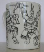 Изображения TMNT, их символика и т.п. на различных предметах - Кружка. Покраска Питера Лэрда (2).jpg