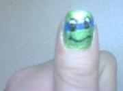 Изображения TMNT, их символика и т.п. на различных предметах - Покраска ногтя в стиле Черепашек Ниндзя.jpg