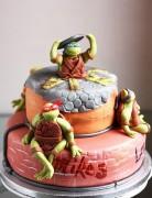 Изображения TMNT, их символика и т.п. на различных предметах - Черепашки - торт (2).jpg