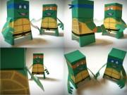 Игрушки и фигурки TMNT общая тема  - Бумажные Лео и Майк.jpg